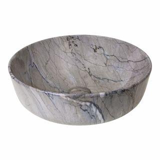 อ่างวางบน+สะดือ ลายหินอ่อน BT 8428MA-34 420X420X140mm