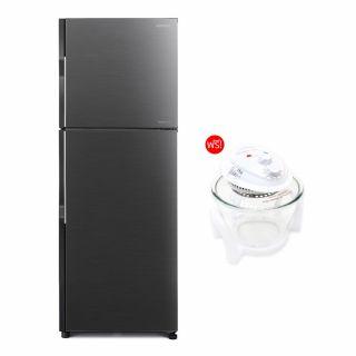 ตู้เย็น 2 ประตู HITACHI RH200PD BBK ดำ 7.7คิว + รับฟรี หม้ออบลมร้อน HANABISHI