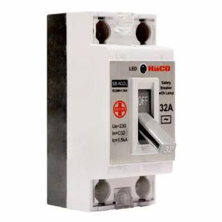 เซฟตี้เบรกเกอร์ กันไฟเกิน 32 แอมป์ มีไฟสัญญาณ HACO SB-N32L