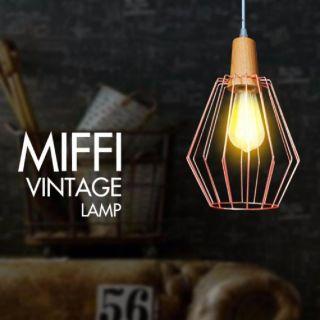โคมไฟห้อย ITE HL-MIFFI/PG ชมพูทอง ขั้วE27