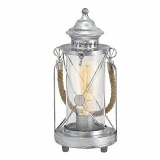 โคมไฟตั้งโต๊ะ EGLO 49284 BRADFORD เงินโบราณ E27