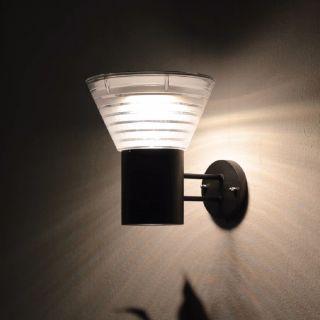 โคมไฟผนังโซล่าเซลล์LED EVE WSL-13 5W สี3in1 กลม ดำ