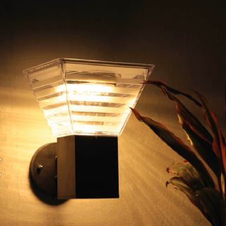 โคมไฟผนังโซล่าเซลล์LED EVE WSL-14 5W สี3in1 เหลี่ยมดำ